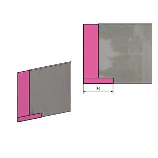 Versandmetall Verbinding voor stabile Graskanten met  dubbele Bovenrand, roestvrij Staal, hoogte 160 - 250 mm