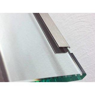 Versandmetall Saving Set Randprofiel RVS K320 1.0mm 12x12x10mm Binnenzijde 8mm Lengte 2500mm