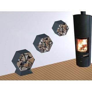 Versandmetall Sockel, Fuß für Kaminholzregal HEXAGON XL aus pulverbeschichtetem Stahl