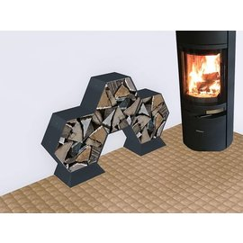 Versandmetall Kaminholzregal Brennholzregal Hexagon XL-360 bis 30cm lange Scheite 0,28m3 5-tl