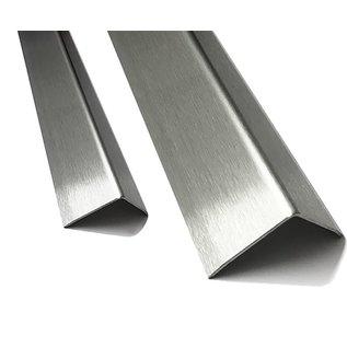 Versandmetall Hoekbeschermer hoekprofiel 25x25 dikte 1,0 mm Sparset Lengte 2500 mm geschuurd(grid320)