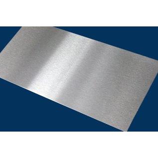 Versandmetall V4A 316L Dunne plaat, Roestvrij Staal,, gesneden op Maat, Breedte 160 - 300 mm, Lengte 2000 mm, oppervlakke geschuurd (grid320)