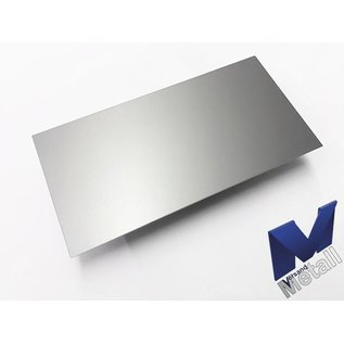 Versandmetall dunne plaat AlMg1 eloxiert E6/EV1 van 160 mm tot 300 mm Breedte en lengte 1250 mm met Folie