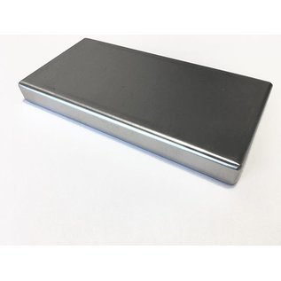 Versandmetall Edelstahlwanne R1 geschweißt Materialstärke 1,5mm  Breite 450 mm Außen Schliff K320