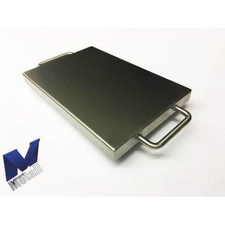 Versandmetall Kuip RVS Bak Spoelbak R1 dikte 1,5mm  Breedte 600 mm oppervlakke BUITENZIJDE geschuurd grid(320) gelast en gebeitst