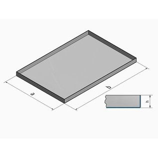 Versandmetall V4A 316L Kuip RVS Bak Spoelbak dikte 1,5mm  Breedte 200 mm oppervlakke BUITENZIJDE geschuurd grid(320) gelast en gebeitst