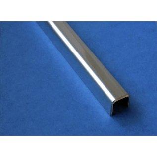 Versandmetall Glasrandprofiel U-Profiel, gemaakt van roestvrij Staal, lengte tot 1250 mm vor Glasdickte van 8 mm tot 12,52 mm