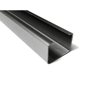 Versandmetall C-Profiel gemaakt van roestvrij Staal Oppervlakke geschuurd hoogte 30 mm Breedte 40 mm- tot 80 mm Lengte 1250 mm