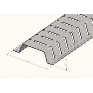 Versandmetall 2m (2000mm ) Drainage Stichkanal aus Aluminium 100mm breit, Höhen 15 bis 30mm