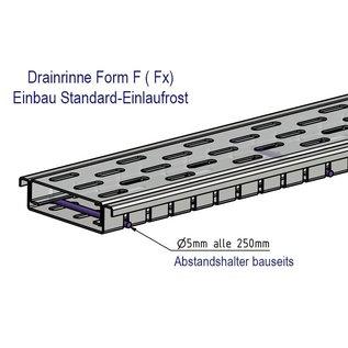 Versandmetall Edelstahl Drainagerinne aus Einlaufbreiten 100 bis 200mm Linienentwässerung von Oberflächen