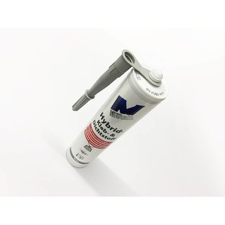 Versandmetall 8x Hightech lijm en afdichtmiddel -8x 290ml, grijs