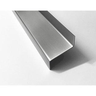 Versandmetall Z-Profil  Traufblech 100° aus Edelstahl  2-fach gekantet Materialdicke 1,5 mm axcb 20 x 40 x 20mm  Länge 2000 mm Aussen Schliff K320