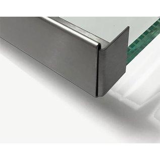 Versandmetall Edelstahl Glasdach-Regenrinne Sondermaß 14mm 1.4301 Korn 320