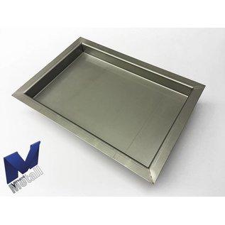 Versandmetall Roestvast stalen kuip R3 gelast Materiaaldikte 1,5 mm lengte / diepte (a) 450 mm buitengrond K320