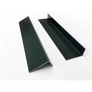 Versandmetall Aluminiumwinkel anthrazit ungleichschenkelig 90° gekantet bis Länge 1250 mm