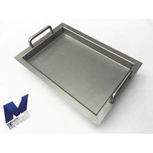 Versandmetall Edelstahlwanne R3  geschweißt Materialstärke 1,5mm  Länge/Tiefe (a)  450 mm Außen Schliff K320