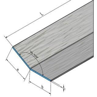 Versandmetall Aluminiumwinkel anthrazit gleichschenkelig 90° gekantet bis Länge 1250 mm