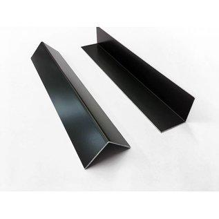 Versandmetall Aluminium hoek antraciet gelijkbenig 90 ° gevouwen tot een lengte van 2500 mm