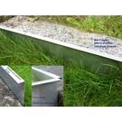 Versandmetall 2,5m lange stabile Rasenkanten Kiesleisten aus Edelstahl 130-200mm hoch, b= 20mm breit
