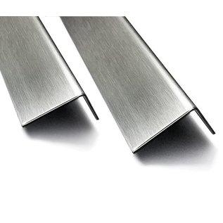 Versandmetall  Edelstahlwinkel 1-fach gekantet aus Edelstahl axb 40x100mm Länge 2000mm