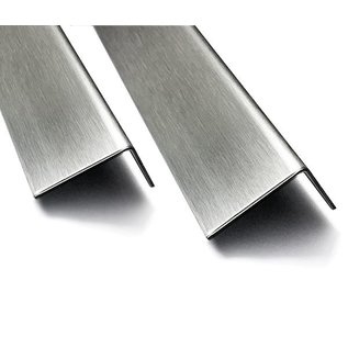 Versandmetall Hoekafdekhoek van roestvrij staal buiten de grond K320 materiaaldikte 2,0 mm 90 ° axb 110x70 mm lengte 934 mm