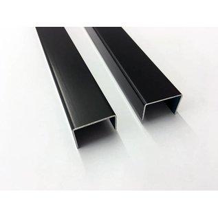 Versandmetall U-Profil aus Aluminium anthrazit (RAL 7016) gekantet bis Breite c= 35-60 mm und Länge 2000 mm