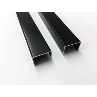 Versandmetall U-Profiel Aluminium anthrazit (RAL 7016) gezet Breedte c 70 tot 100 mm Lengte 2000 mm