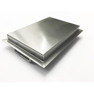 Versandmetall Roestvrijstalen kuip R2 gelast Materiaaldikte 1,5 mm lengte / diepte (a) 250 mm buitengrond K320