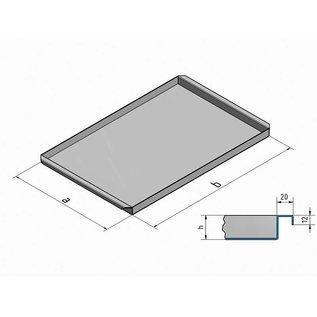 Versandmetall Roestvrijstalen schaal R2 gelast Materiaaldikte 1,5 mm lengte / diepte (a) 300 mm buitengrond K320