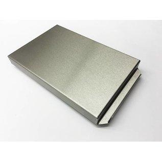 Versandmetall Edelstahlwanne R2  geschweißt Materialstärke 1,5mm  Länge/Tiefe (a)  300 mm Außen Schliff K320