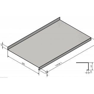 Versandmetall Edelstahl Arbeitsplatte Materialstärke 1,0 mm Tiefe 600mm, verschiedene Breiten,  Sichtseite geschliffen Korn 320