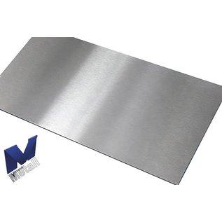 Versandmetall Roestvrijstalen werkblad 1,0 mm 600 mm diepte, verschillende breedtes, 2 materiaaldikten, zichtbare zijgraan 320, wordt geleverd met beschermfolie