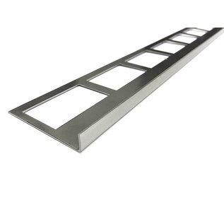 Versandmetall Fliesenleiste 1 Fliesenkante Fliesenprofil  Edelstahl 1,0mm, geschliffen Korn 320