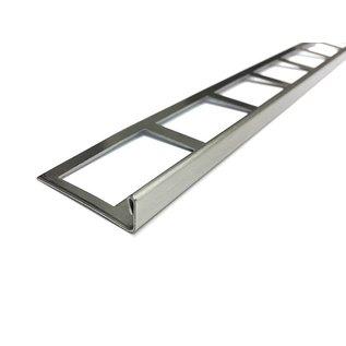 Versandmetall Tegelstrip 3 Tegelrand Tegelprofiel roestvrij staal 1,0 mm, geslepen korrel 320