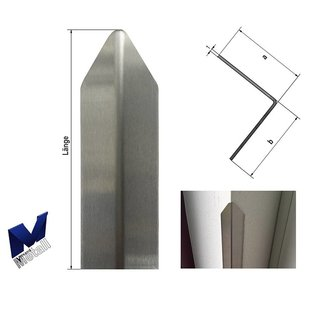 Versandmetall Eckschutzwinkel modern 1-fach gekantet, für Mauern Ecken und Kanten 50x50 Länge 1000 mm K320