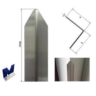 Versandmetall Hoekbeschermer modern 1-voudig gerand, voor wanden hoeken en randen 50x50 lengte 1800 mm K320