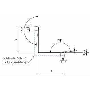 Versandmetall Hoekbeschermer modern 3-voudig gerand, voor wanden hoeken en randen 50x50m lengte 1800 mm K320