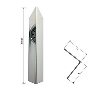 Versandmetall 1,0 m Hoekhoekbeschermingshoek modern 1-voudig gevouwen, voor muurhoeken en randen lengte 1000 mm reflecterend