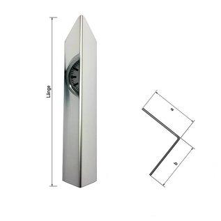 Versandmetall 1,25 m Hoekhoekbeschermingshoek modern 1-voudig gevouwen, voor muurhoeken en randen lengte 1250 mm reflecterend