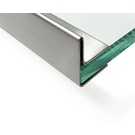 Versandmetall dakgoot vor glasdakken van 10,76 mm 1.4301, geschuurd(grid320)