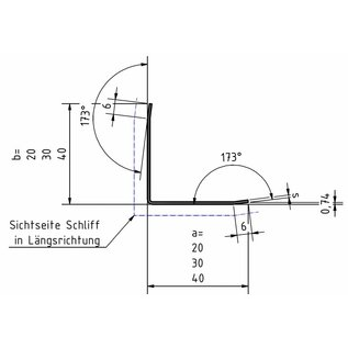 Versandmetall Reddingsset Randbeschermingshoek 3-voudig gevouwen 15 x 15 x 1,0 mm lengte 2000 mm K320