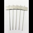 Versandmetall Stabile Pflanzenschilder Pflanzstecker aus hochwertigem Edelstahl  Schildmaß 7,0x4,3cm