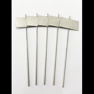 Versandmetall Stabile Pflanzenschilder Pflanzstecker aus hochwertigem Edelstahl  Schildmaß 7,0x4,3cm Stablänge 25cm