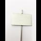 Versandmetall Stabiele planttekens Plantenstop gemaakt van hoogwaardig roestvrij staal 7,0x4,3cm staaflengte 25cm