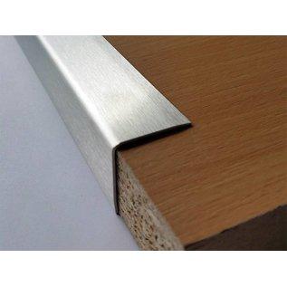 Versandmetall Hoekbeschermer hoekprofiel 3x gezet ongelijkzijdig lengte 1500 mm oppervlakke geschuurd (grid320)