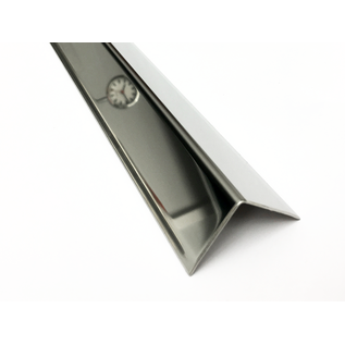 Versandmetall Kantenschutzwinkel 3-fach gekantet ungleichschenkelig Länge 1500mm aussen Schliff K 320