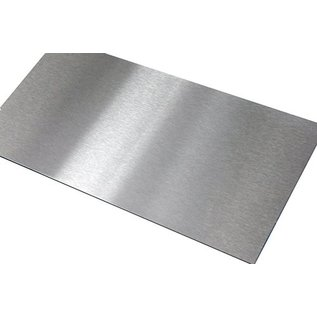 Versandmetall - Zuschnitt Edelstahl, V4A (316L) gebürstet Korn 320 , Stärke  1,5 mm. Geschnitten, gestanzt  und entgratet auf  BxH  400x2000x1,5mm