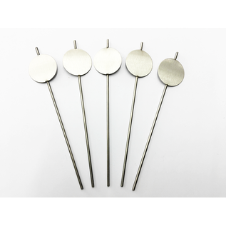 Versandmetall Stabile Pflanzenschilder Pflanzstecker aus hochwertigem Edelstahl  Schild rund 5cm Stablänge 25cm