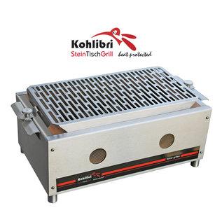 Versandmetall Kohlibri Stein Tisch Grill in Edelstahlausführung