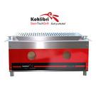 Versandmetall Kohlibri Stein Tisch Grill  red line